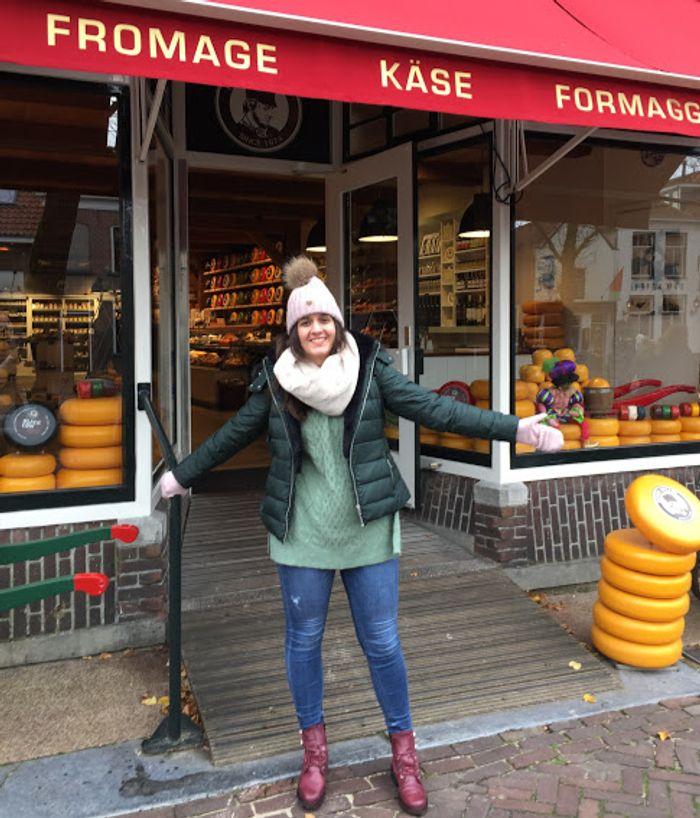 Tienda típica de quesos holandeses.